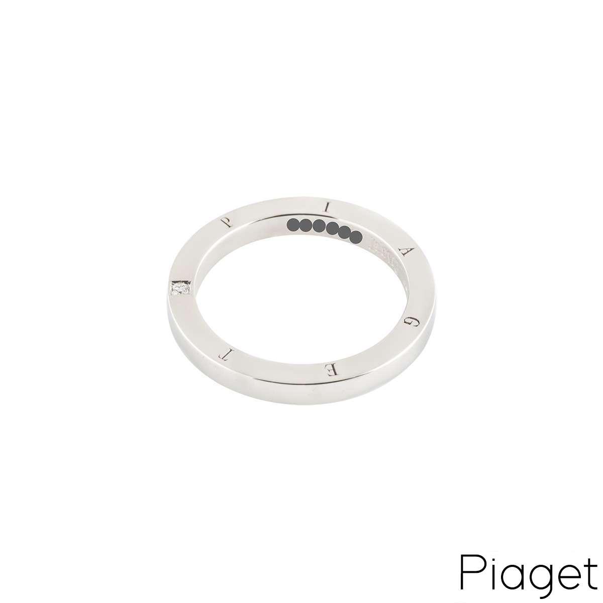 Piaget Diamond Set Wedding Band in Platinum